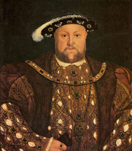 King Henry VIII first stair lift rider
