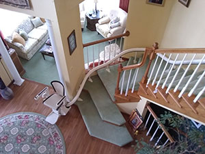 Centralia curved stair lift install