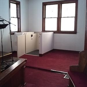 Commercial wheelchair lift installed in church