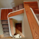 Harmar Helix curved stair lift curved rail for two landings
