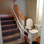 Harmar Helix curved stair lift parked in hallway