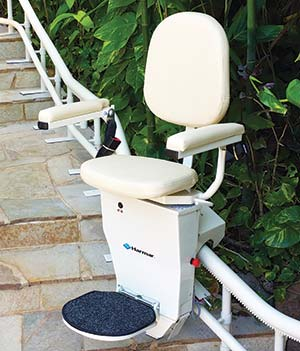 Harmar Helix outdoor curved stair lift