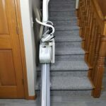Harmar Pinnacle SL300 stair lift folded up