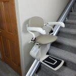 Harmar Pinnacle SL300 stair lift unfolded on stairs