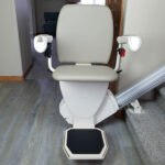 Harmar Pinnacle SL600 stair lift unfolded straight on