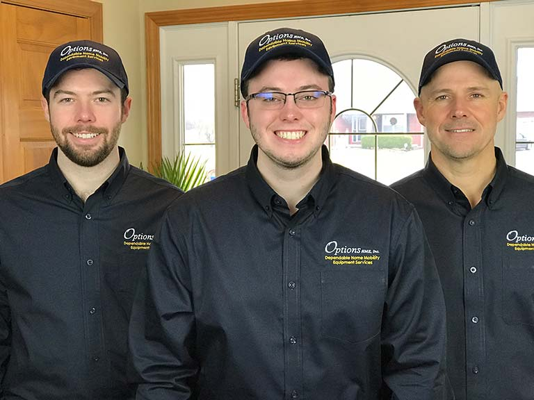 Options HME installation and service technicians