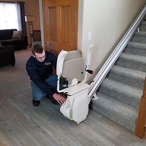 Options HME technician stair lift service