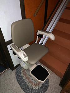 Vandalia stair lift installation