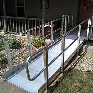 Wheelchair ramp for front door