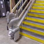 Commercial stair lift in warehouse
