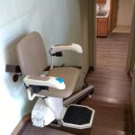 Commercial stair lift unfolded