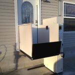 Harmar Highlander wheelchair lift for elevated door platform level with door