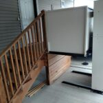 Harmar Highlander wheelchair lift with stairs built by Options HME