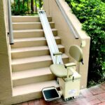 Harmar Summit SL350OD Outdoor Stair Lift outside