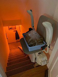 Turkey on a stair lift