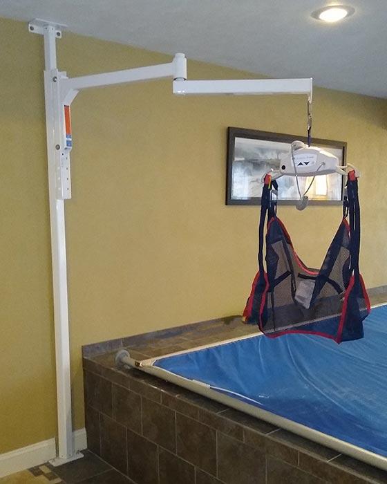 Handicare wall mount patient lift