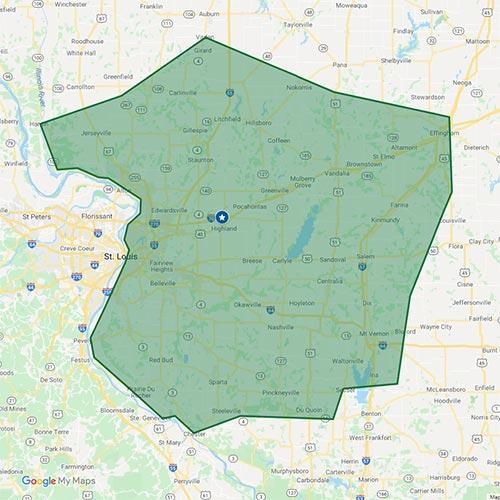 Southern Illinois service area