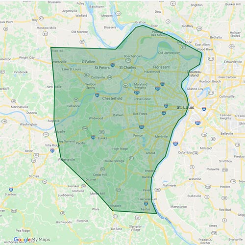 St. Louis Service Area Map