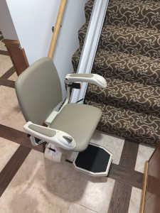 Harmar Pinnacle SL600 Stair Lift Installed in Alton, IL